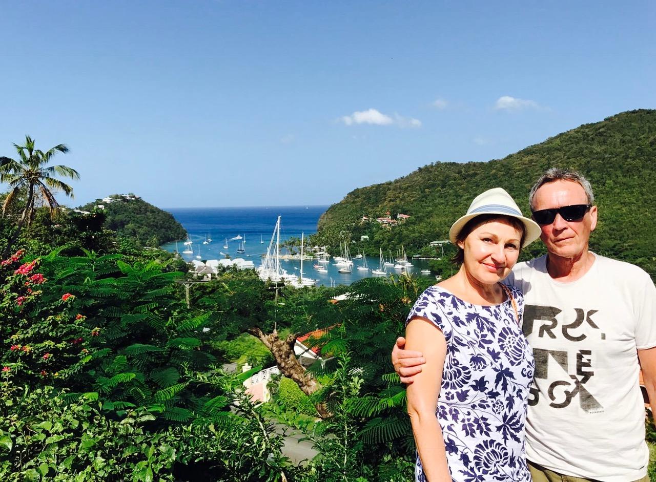 Blick auf die Marigot Bay, St. Lucia