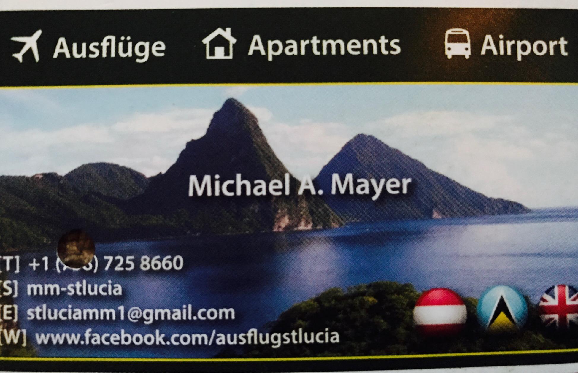 Michaels Visitenkarte, St. Lucia