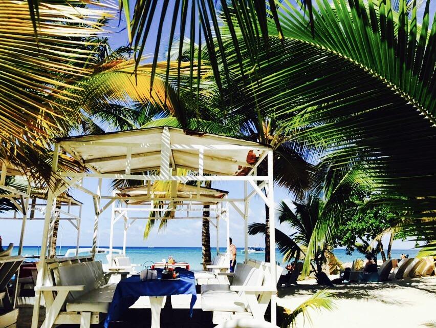 Essensplatz auf Saona Island
