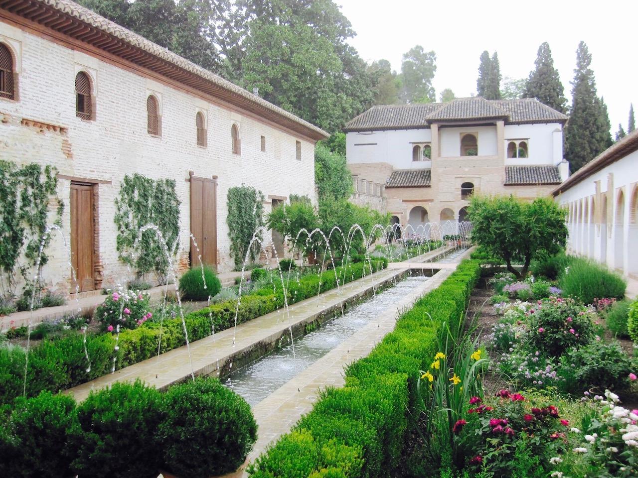 Alhambra, Gärten, Granada, Andalusien