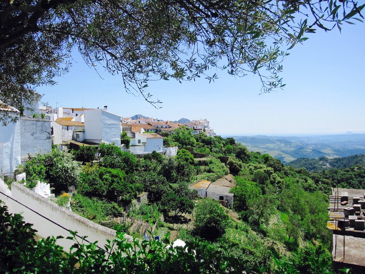 Aussicht vom Hotel La Fructuosa, Gaucín, Andalusien