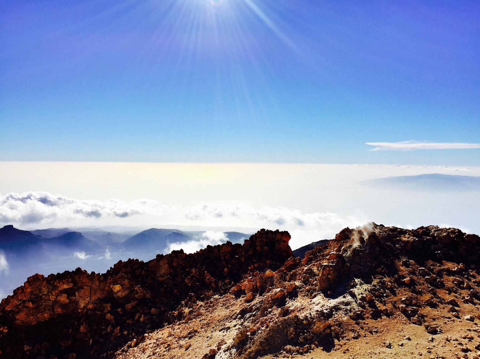 Aussicht vom El Teide bei schönstem Wetter