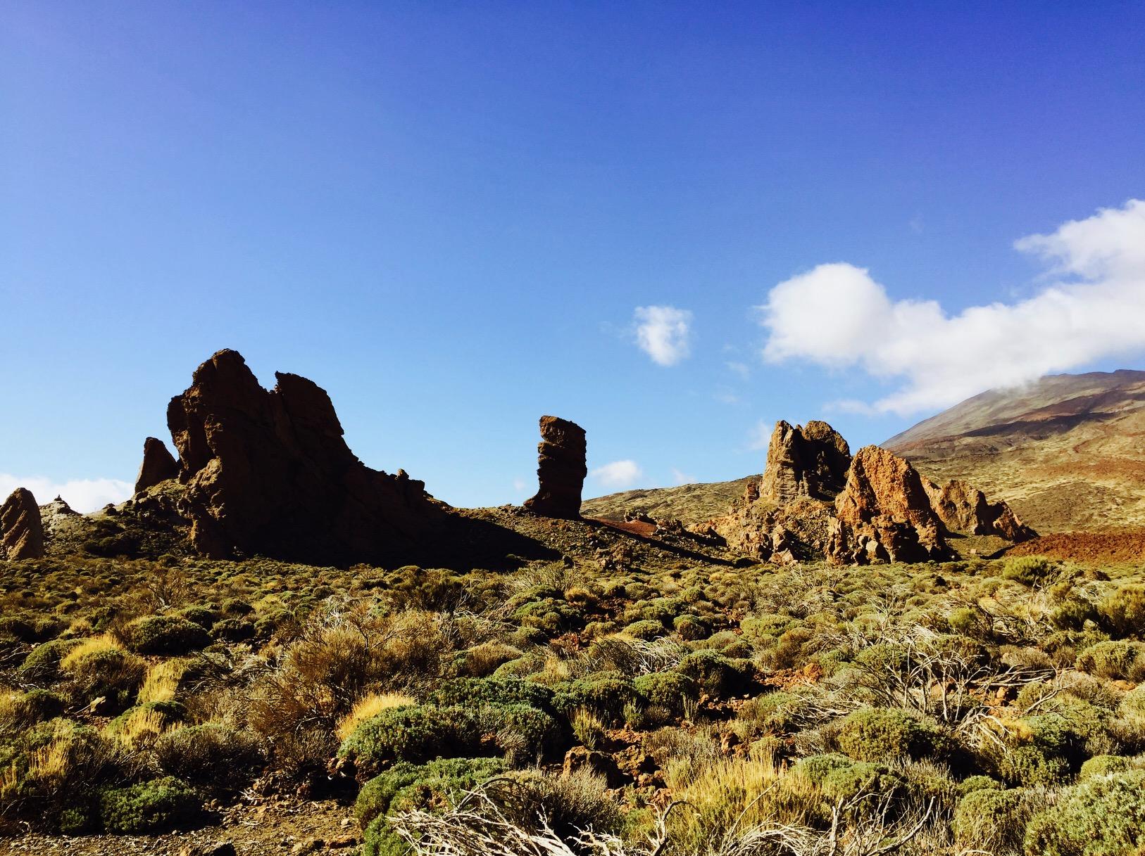 Karge Landschaft im El Teide Nationalpark