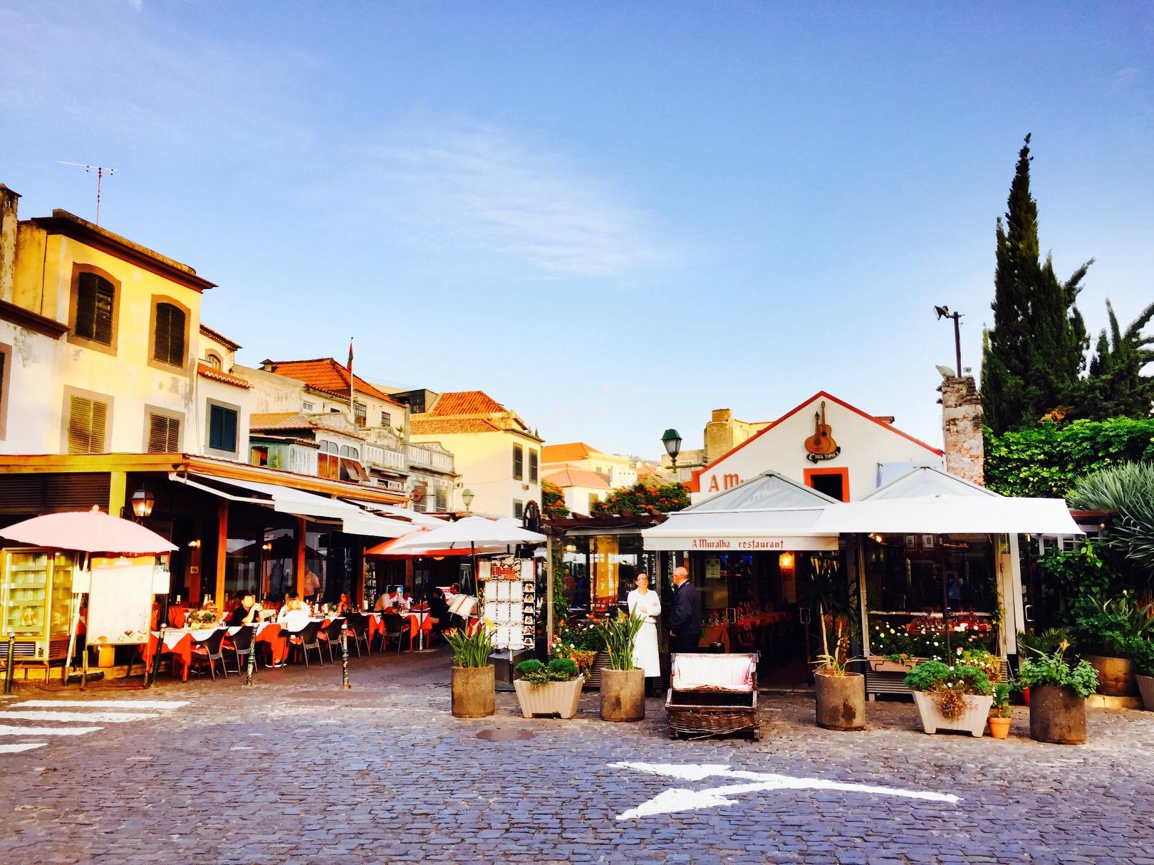 Blick in die Altstadt von Funchal auf Madeira