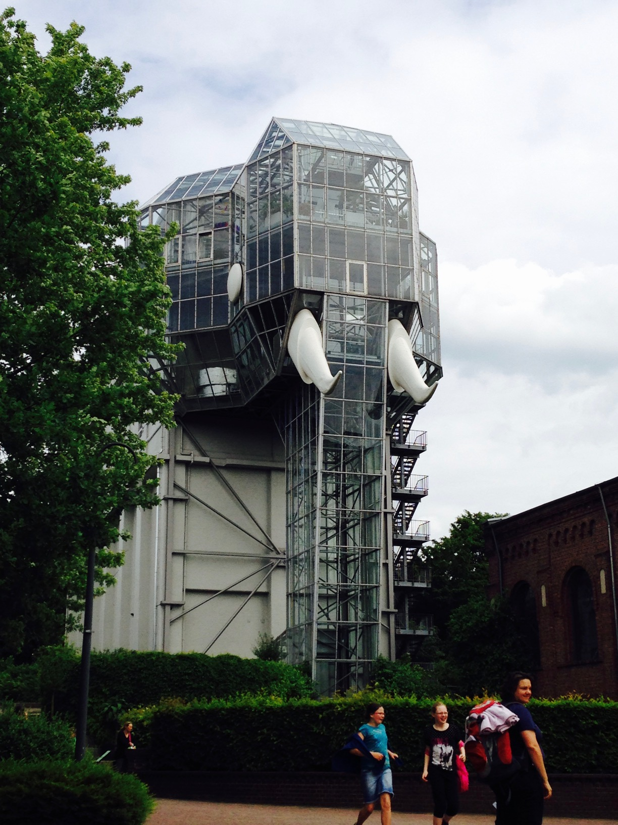 Ausflugstipps NRW, Blick auf den Glaselefant im Maxipark in Hamm