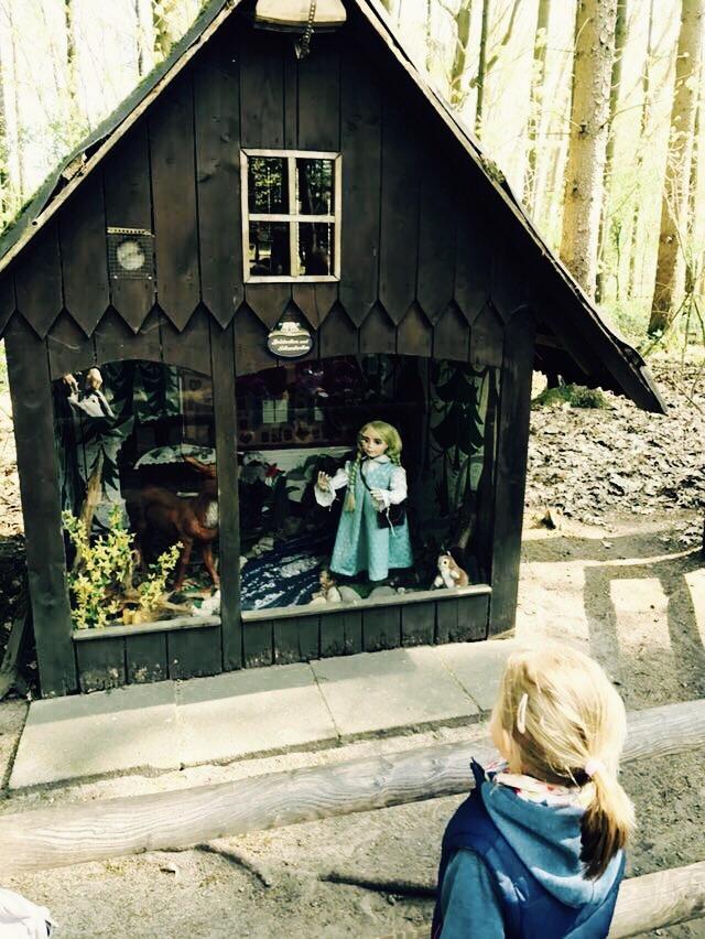 Häuschen im Märchenwald im Wildpark Frankenhof