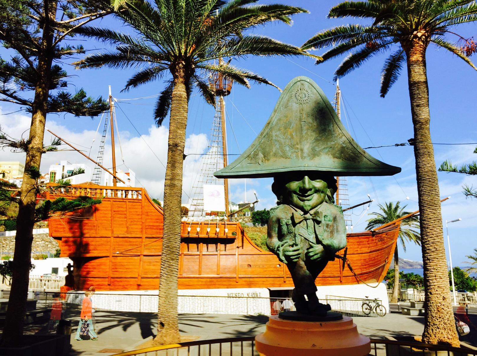 Blick auf die nachgebaute Santa Maria in Santa Cruz de la Palma auf La Palma