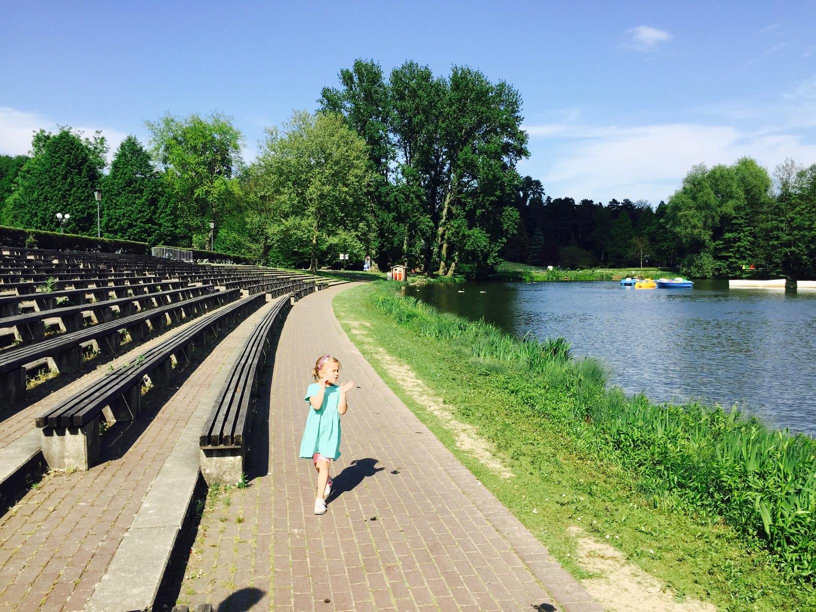 Tribüne zu Kino im Park im Westfalenpark in Dortmund