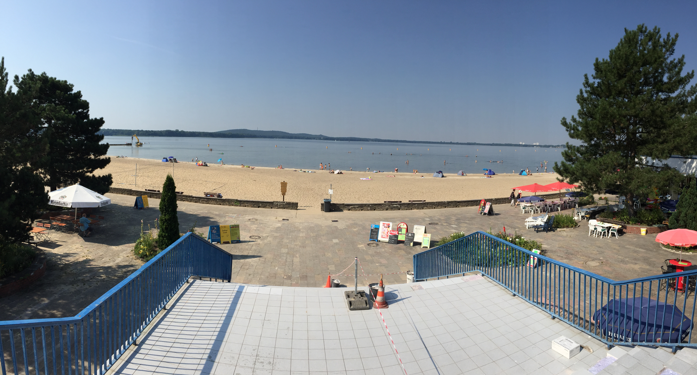 Blick auf den Strand im Strandbad Müggelsee