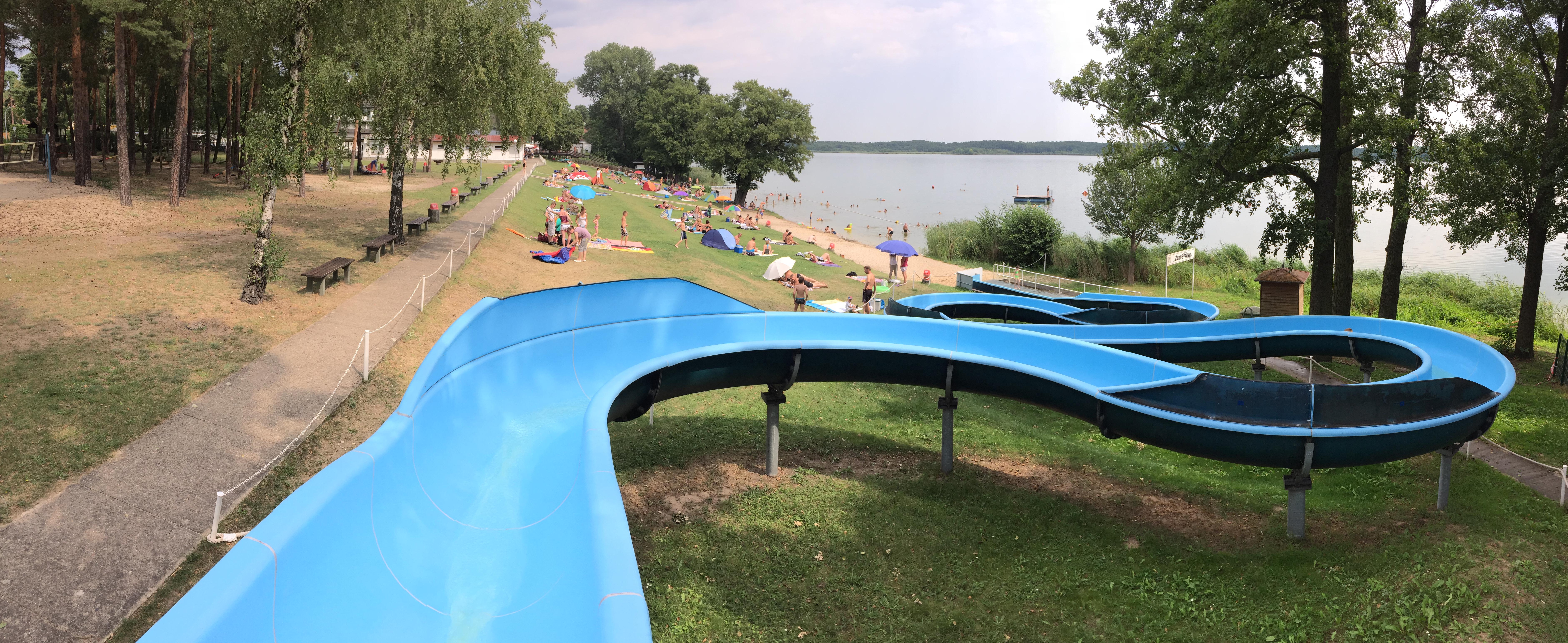 Blick auf das Strandbad Klausdorf