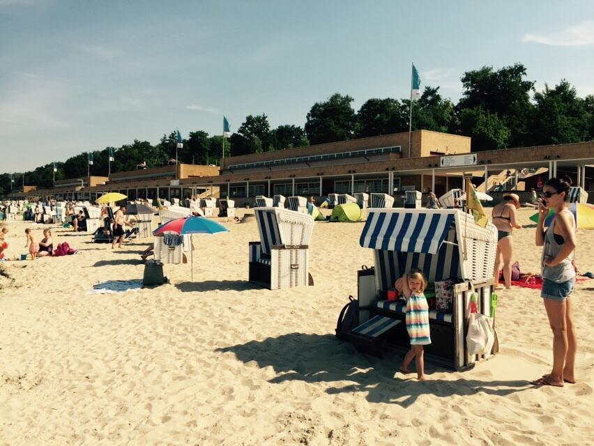 Strand im Strandbad Wannsee, Berlin