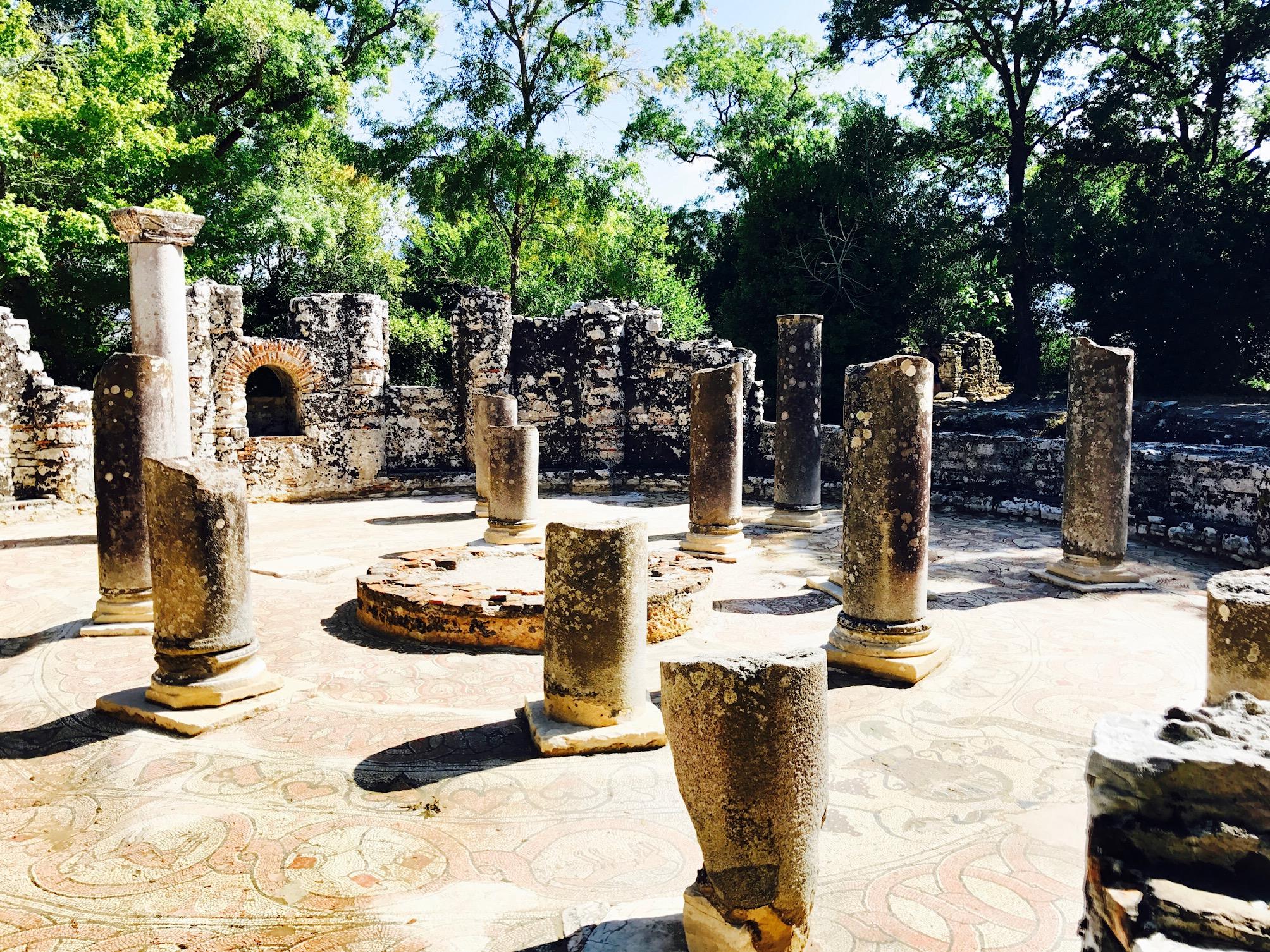 Blick auf dei Ausgrabungsstätte Butrint