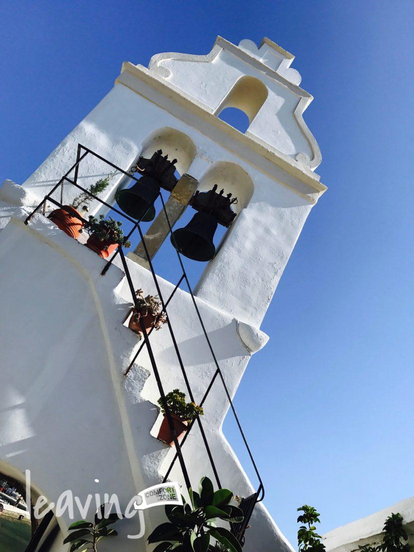 Blick auf einen Teil vom Kloster Vlacherna Monastery, Korfu