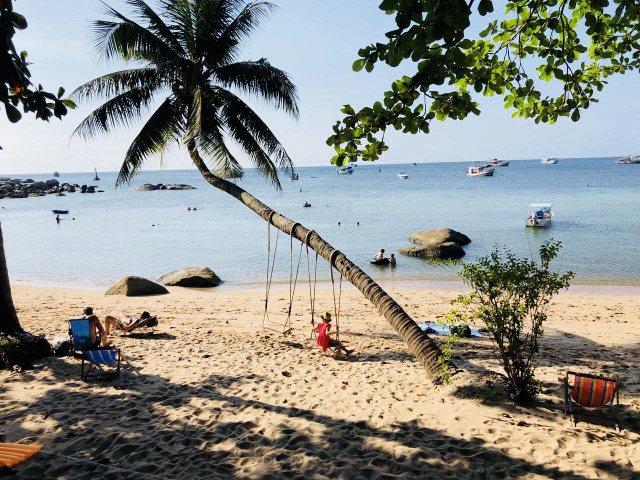 Unser Strandabschnitt vor der Koh Tao Royal Resort Anlage