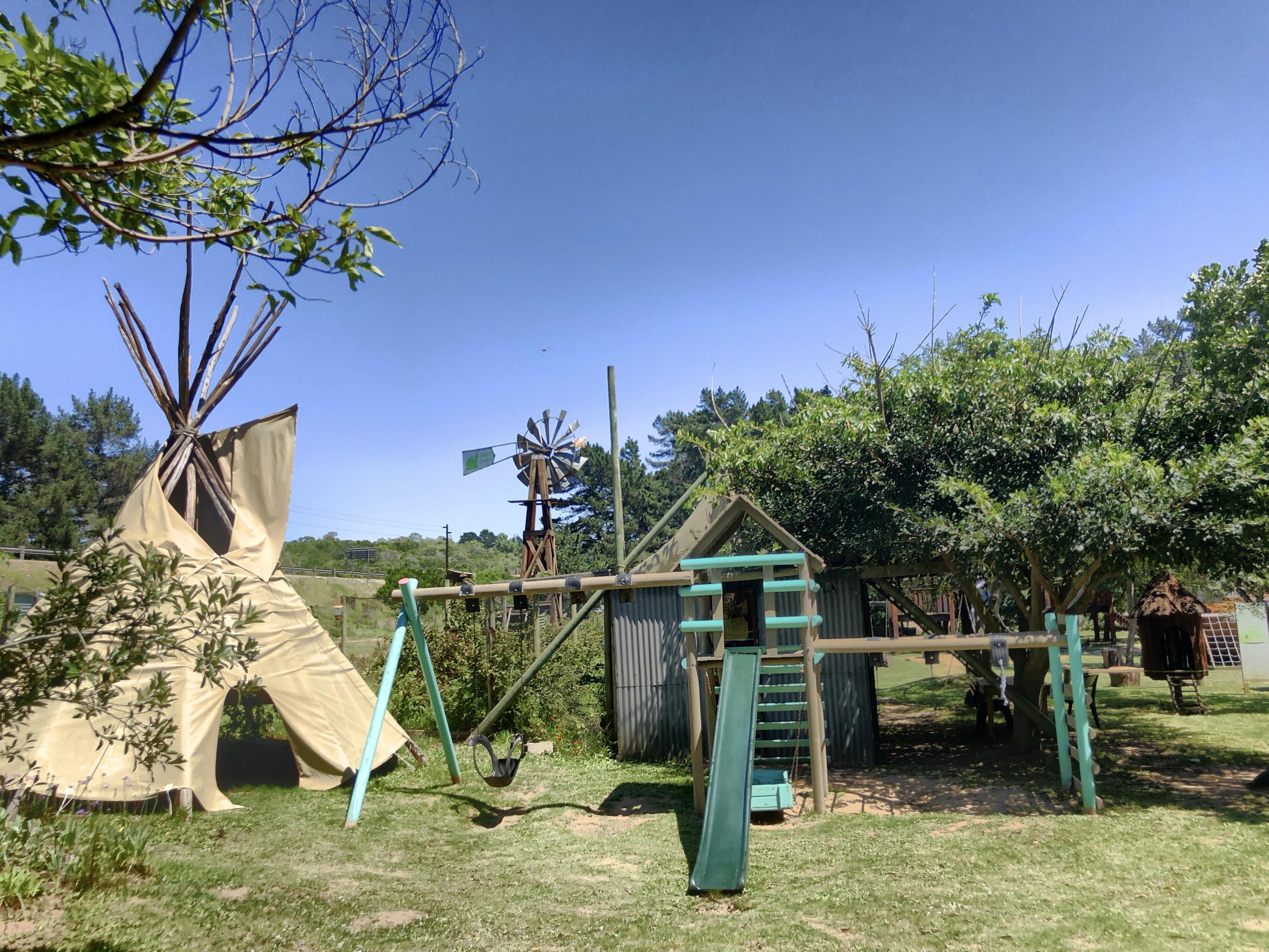 Spielplatz auf der Timberlake Organic Farm