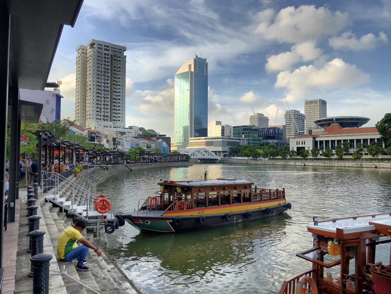 Blick auf Clark Quay, Singapur
