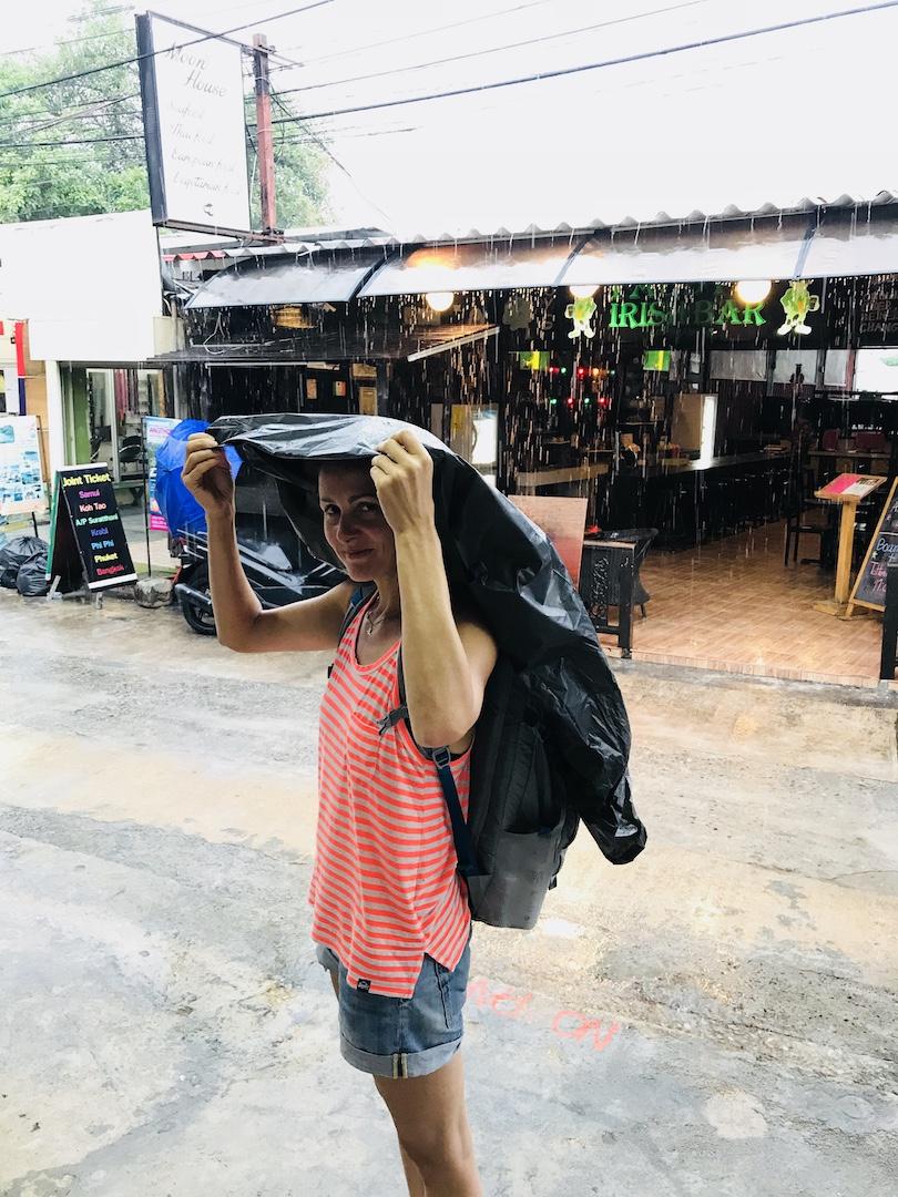 Regentag auf Kho Phangan, Thailand