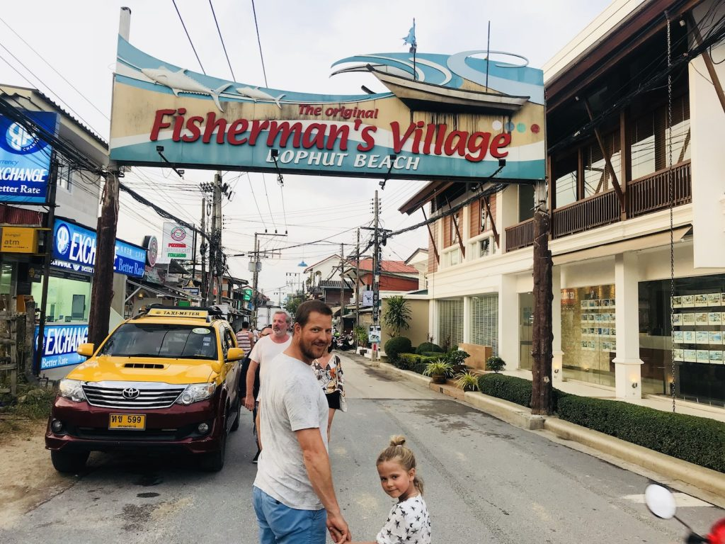 Eingang Fisherman's Village, Koh Samui, Thailand
