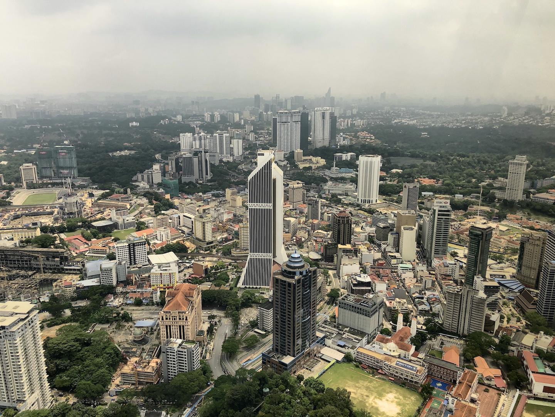 Ausblick vom KL Tower, Kuala Lumpur, Malaysia
