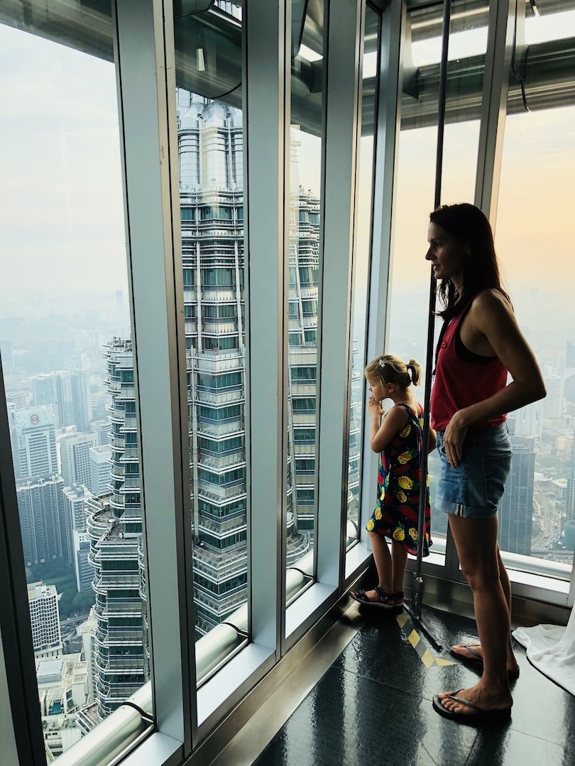 Auf den Petronas Towers, Kuala Lumpur, Malaysia