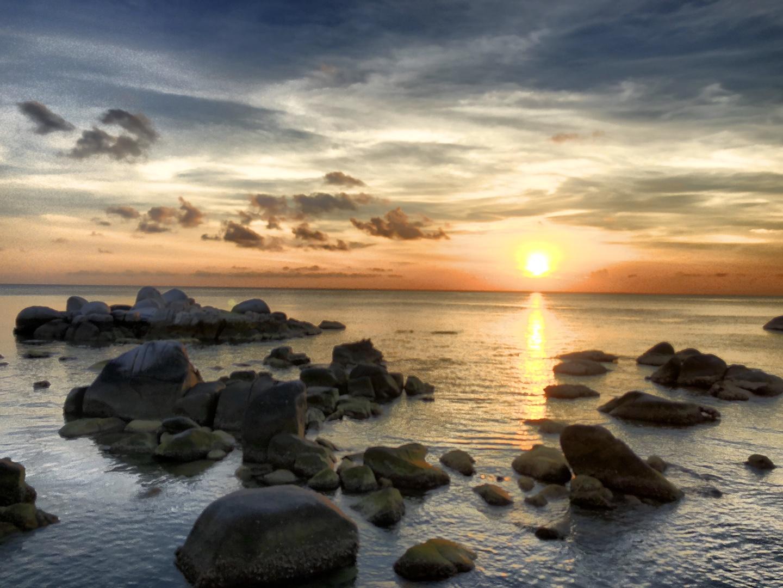 Sonnenuntergang am Sai Nuan Beach, Koh Tao, Thailand