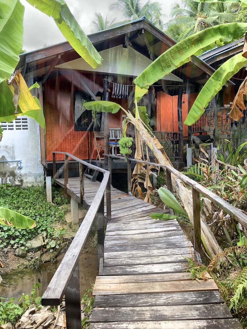 Zugang zum Bungalow, Silber Moon Jungle Resort, Koh Phangan, Thailand