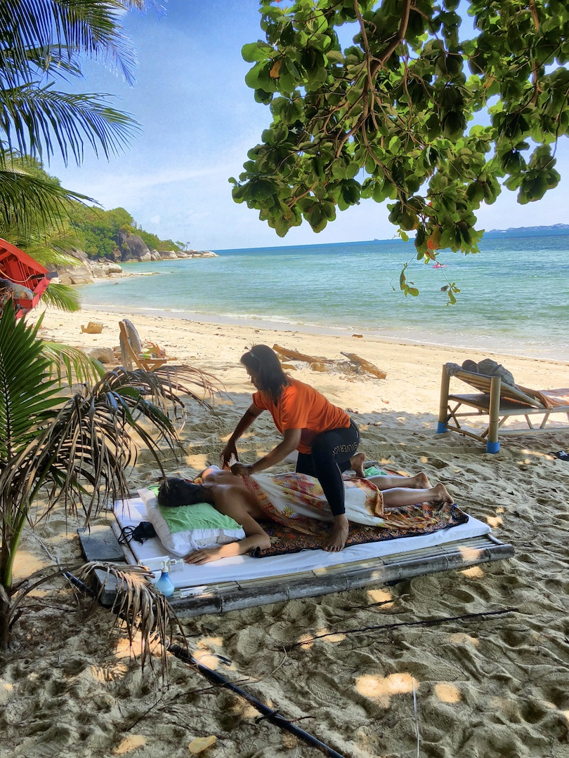 Massage am Strand, Kho Phangan, Thailand