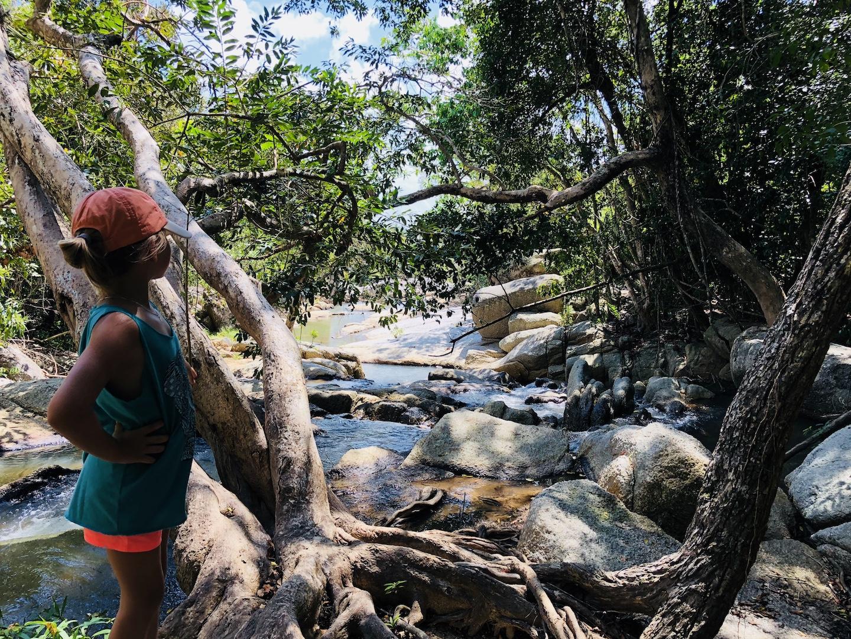 Weg am Than-Sadet Wasserfall, Kho Phangan, Thailand