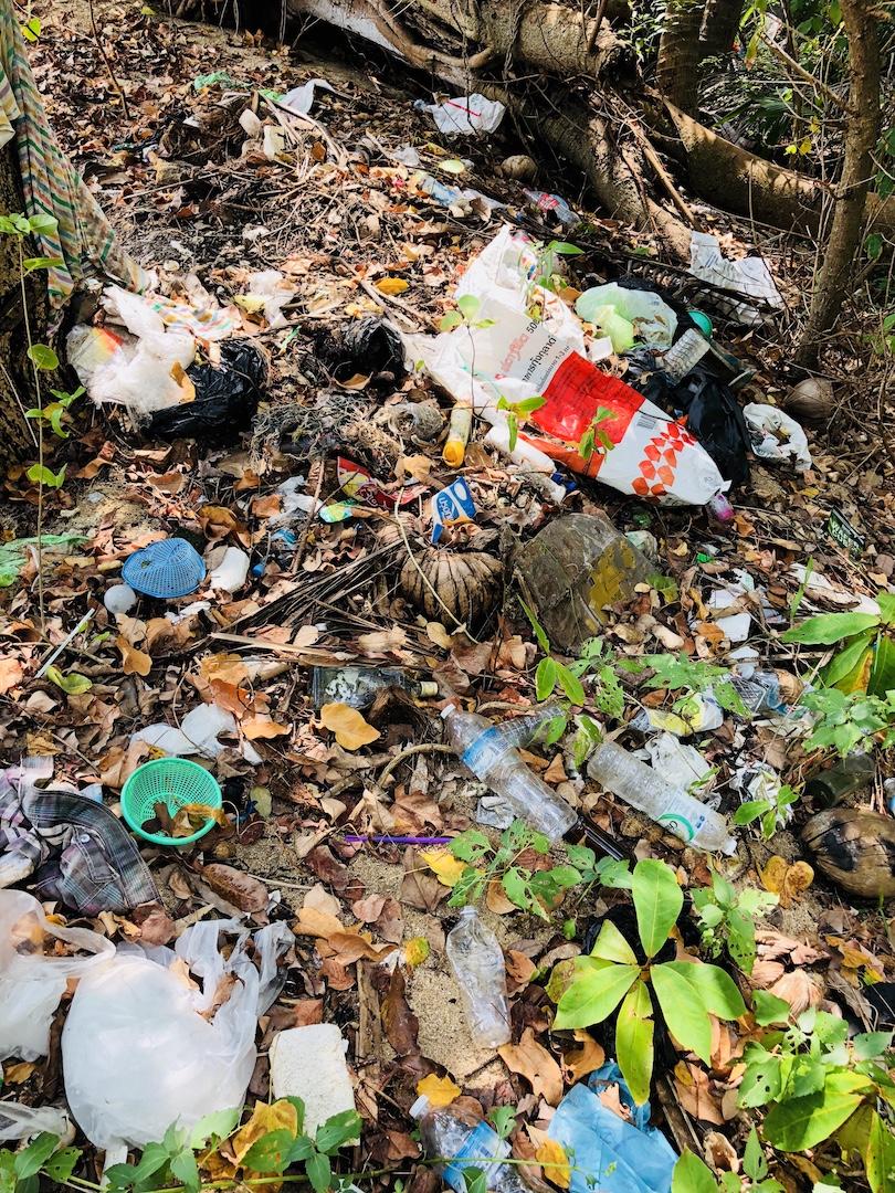 Müllhalde auf Kho Phangan, Thailand
