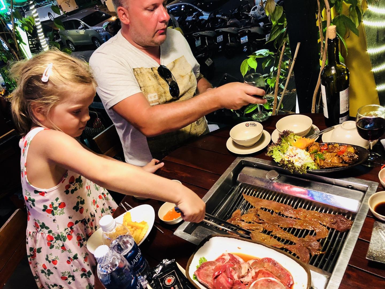 Abendessen in Da Nang, Vietnam