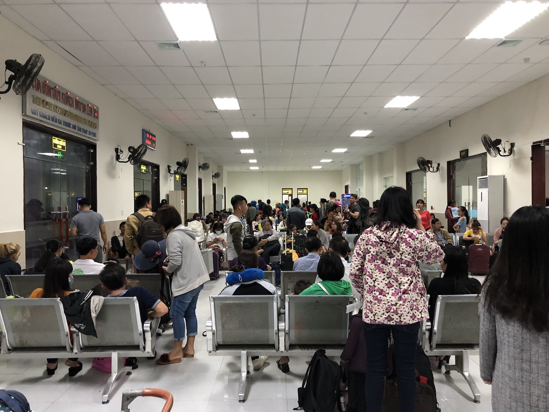 Wartehalle Bahnhof Da Nang, Vietnam