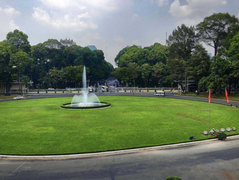 Platz vor dem Wiedervereinigunspalast, Ho Chi Minh, Vietnam