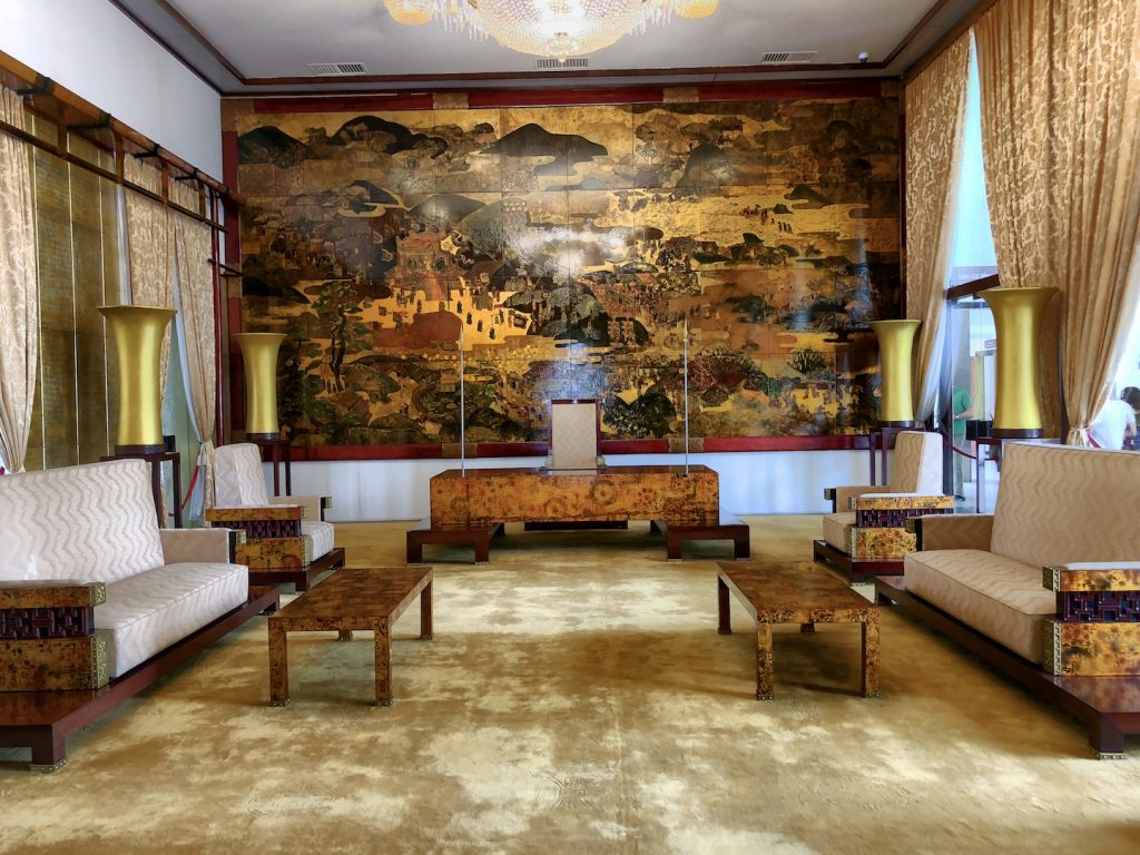 Saal im Wiedervereinigungspalast, Ho Chi Minh, Vietnam
