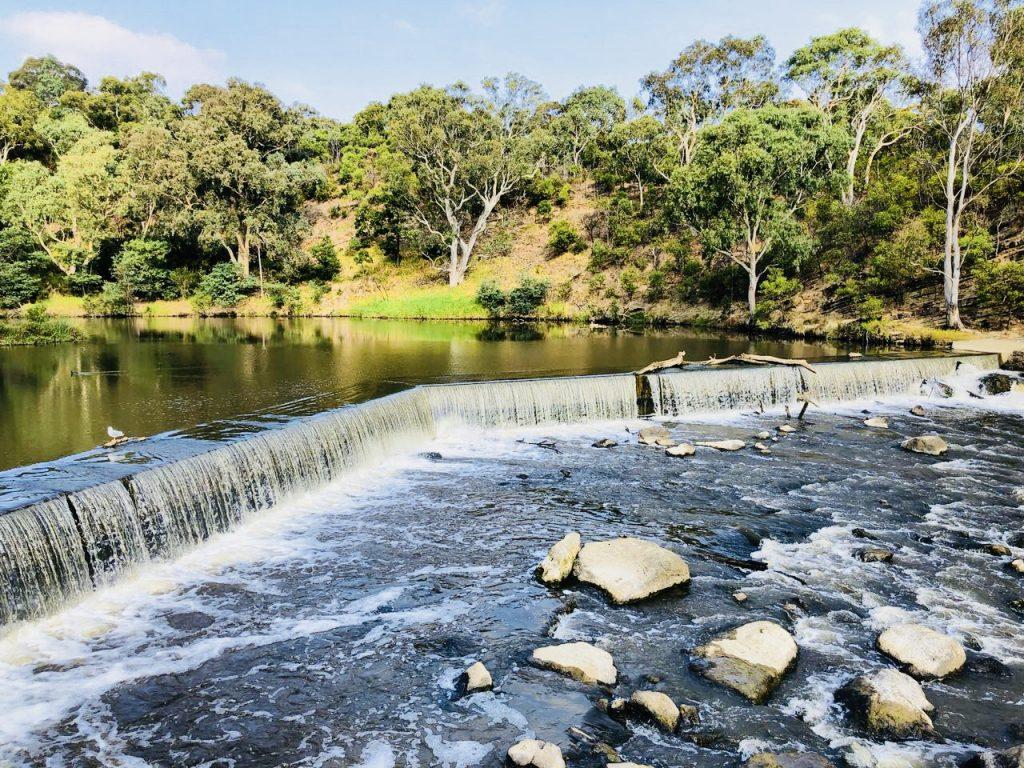 Dights Falls, Yarra River, Melbourne, Australien
