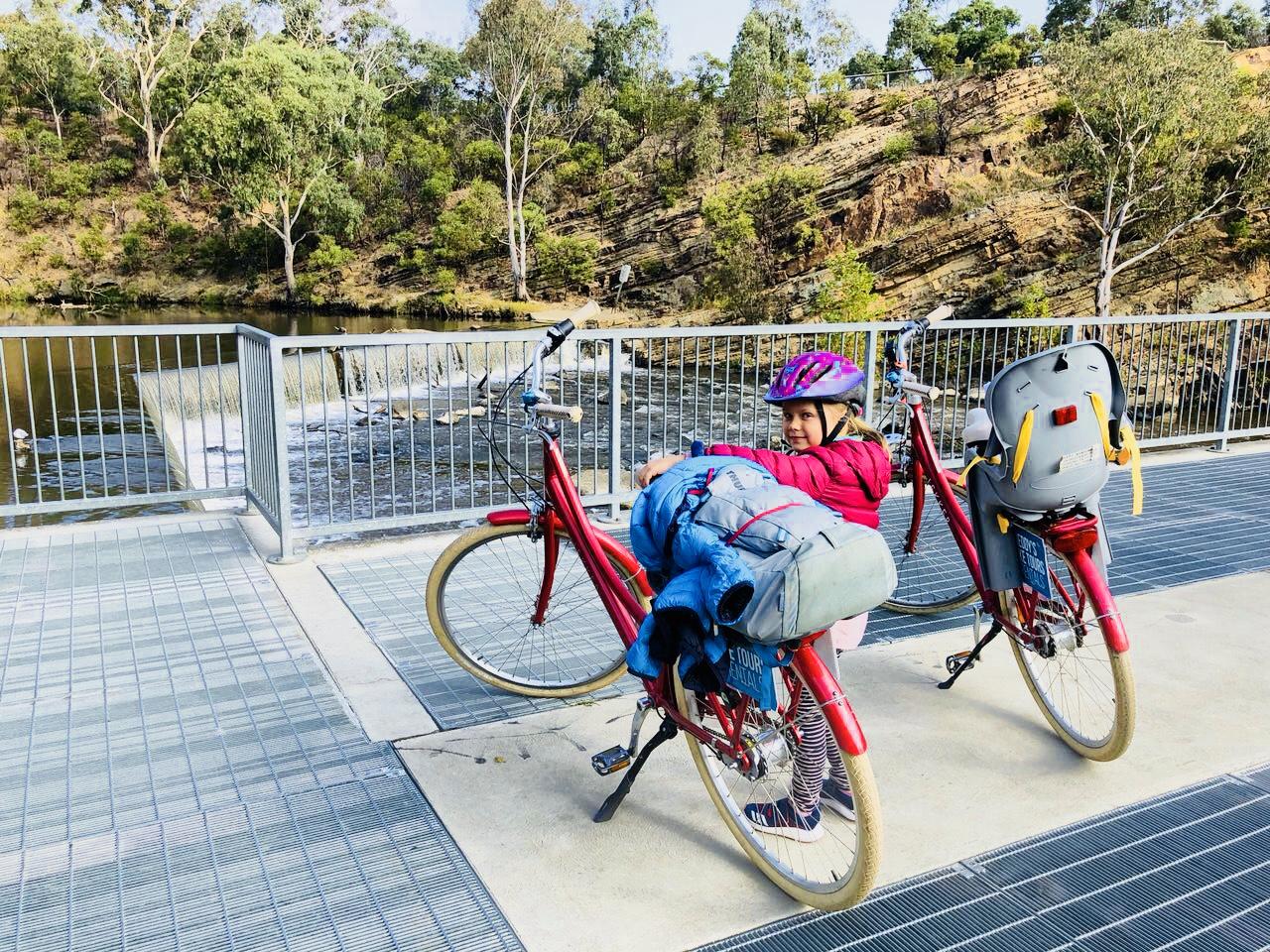 Fahhräder am Yarra River, Melbourne