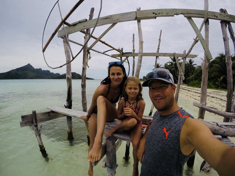 Familie auf Maupiti