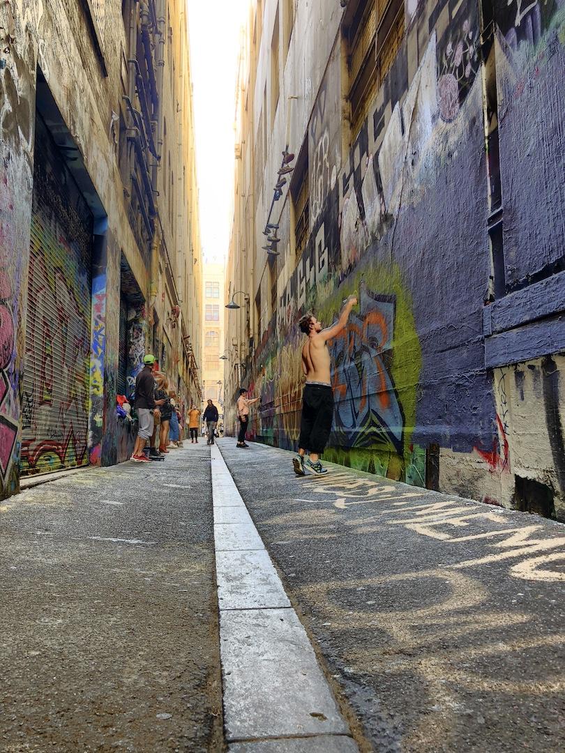 Sprayer in Action, Melbourne, Australien