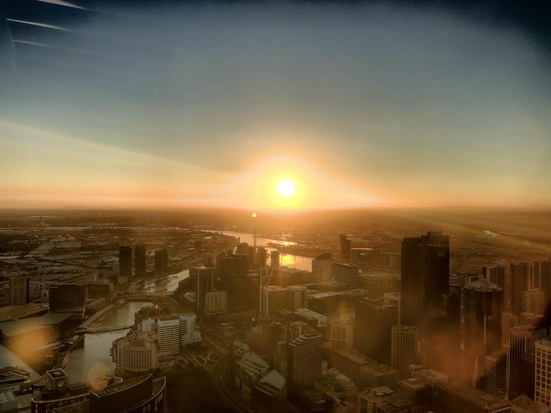 Sunsetview, Eureka Tower, Melbourne, Australien