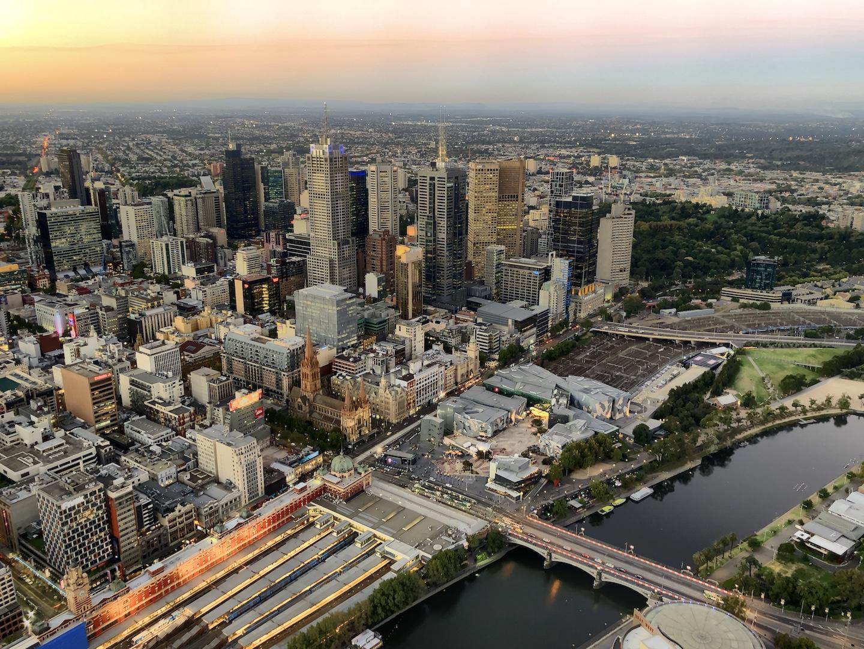 Ausblick vom Eureka Tower, Melbourne, Australien