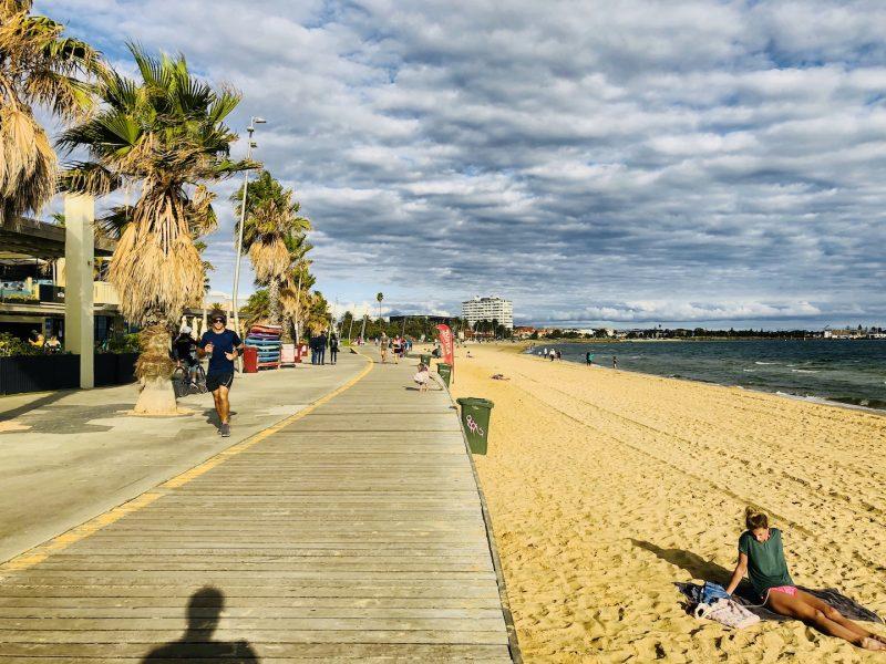 St. Kilda Beach, Melbourne, Australien
