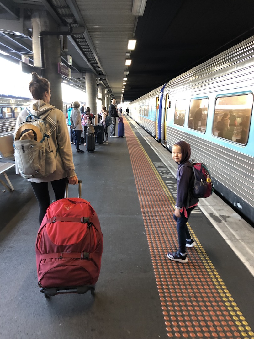 Melbourne Bahnhof, Australien