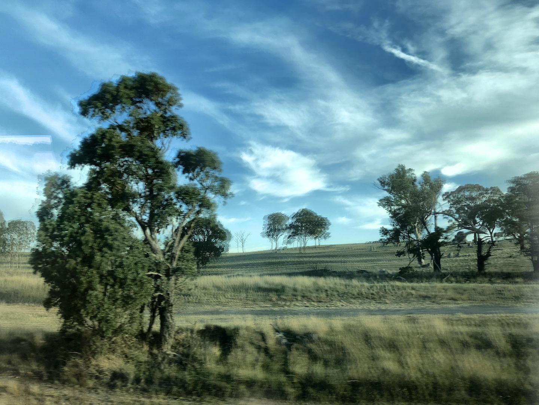 Landschaft auf der Zugfahrt von Melbourne nach Sydney