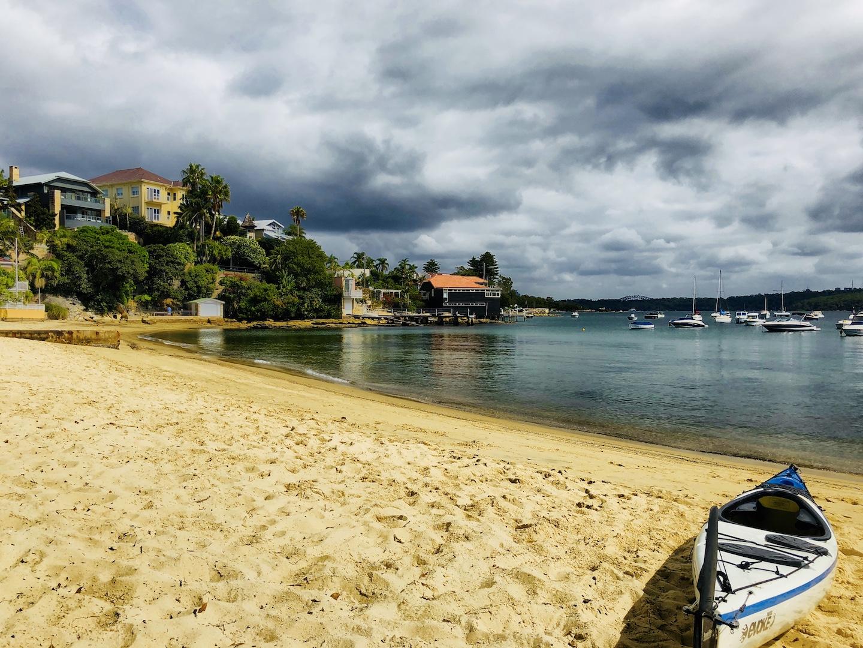 Der kleine Strand neben dem Anlegehafen, Watsons Bay