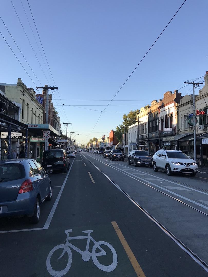 Brunswick Street, Fitzroy, Melbourne, Australien