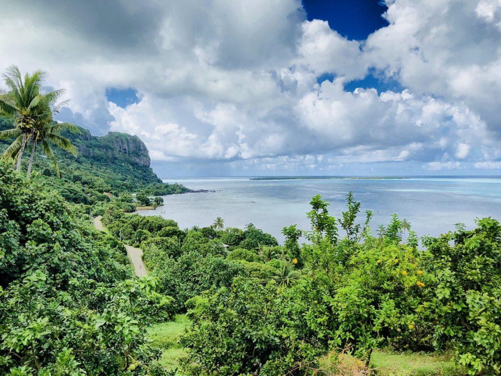 Aussichtspunkt auf Maupiti, Südsee Urlaub