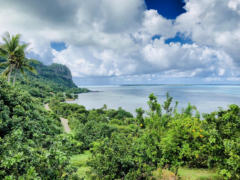 Aussichtspunkt auf Maupiti, Südsee