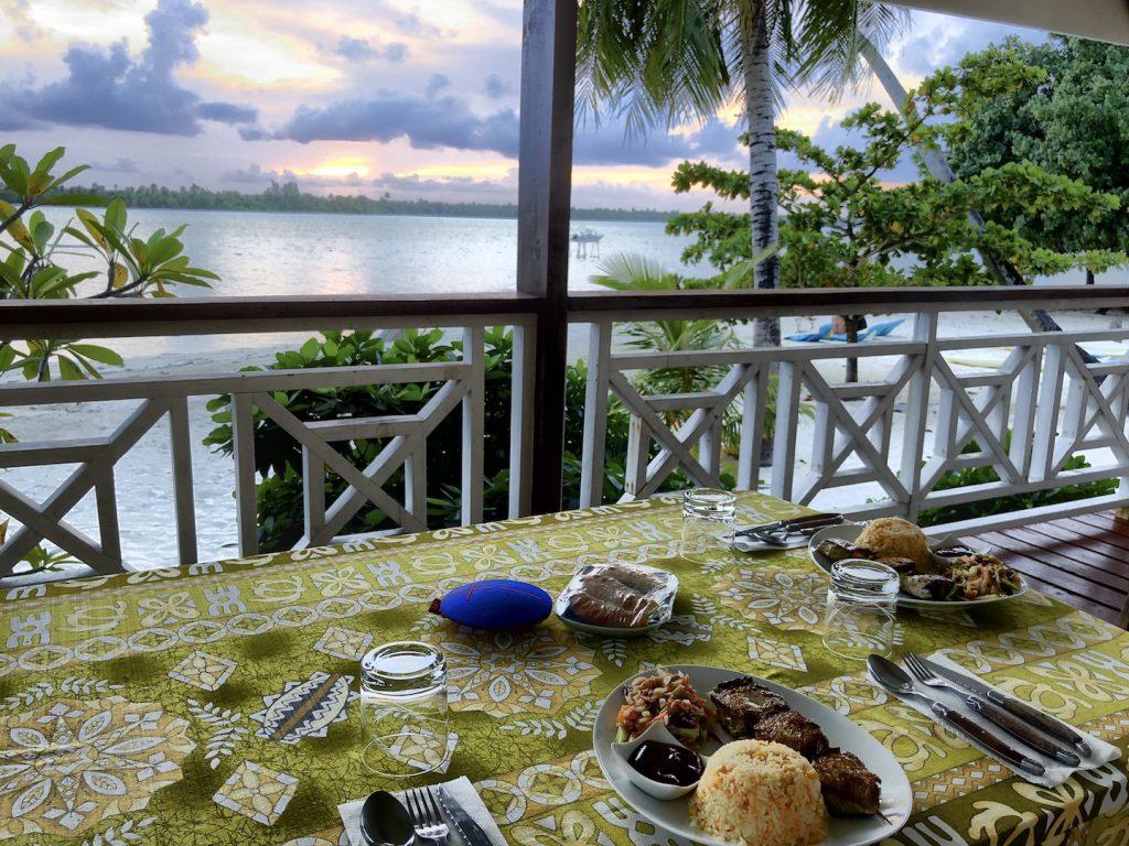 Dinner mit Aussicht, Maupiti