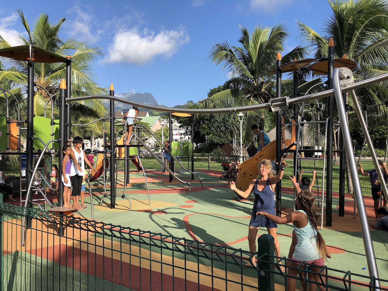 Spielplatz im Park, Papeete, Tahiti