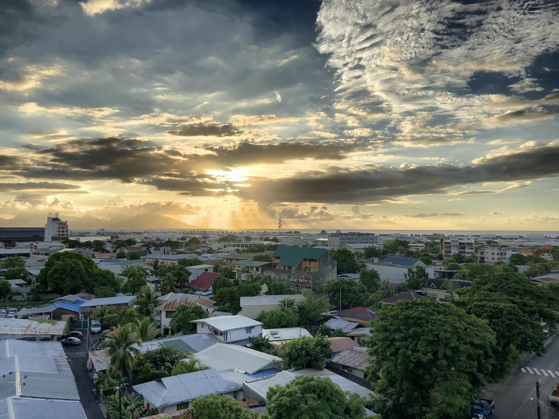 Sonnenuntergang in Papeete, Tahiti