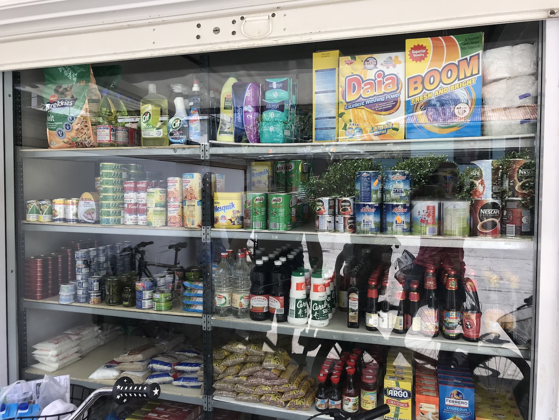 Auswahl im Shop auf Maupiti
